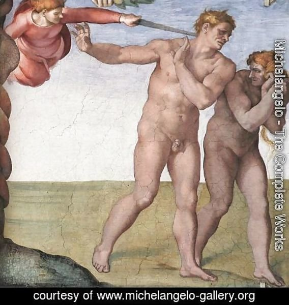 Michelangelo - Expulsion from Garden of Eden 1509-10
