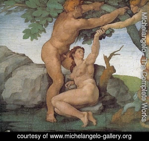 Michelangelo - Ceiling Of The Sistine Chapel  Genesis The Fall And Expulsion From Paradise   The Original Sin