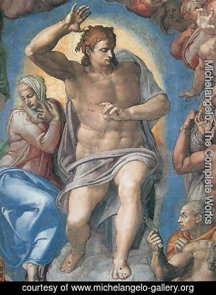 Michelangelo - Last Judgement  Christ The Judge