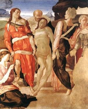 Michelangelo - Entombment c. 1510