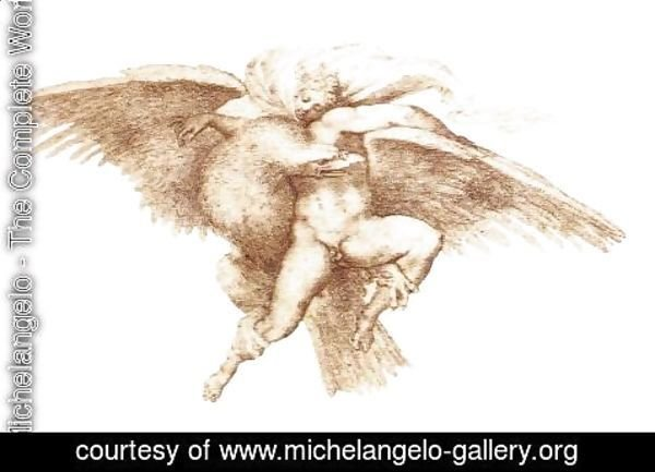 Michelangelo - The Rape of Ganymede c. 1533
