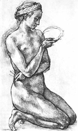 Michelangelo - Nude Woman on her Knees