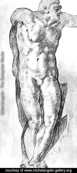 Michelangelo - Study of a Nude Man