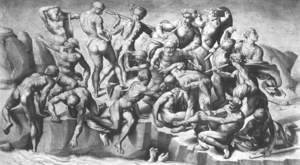 Michelangelo - Battle Of Cascina (Part) 1505