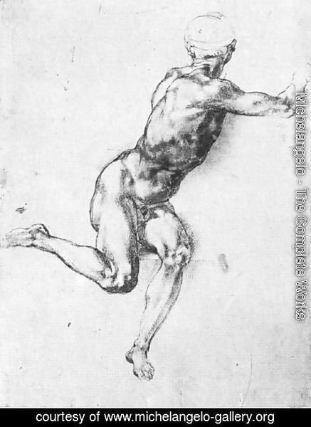 Michelangelo - Battle Of Cascina  Study For A Figure