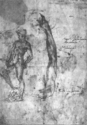 Study For An Arm Of The Marble David And The Figure Of The Bronze David