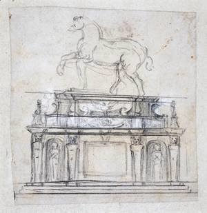 Michelangelo - Design For A Statue Of Henry II Of France On Horseback