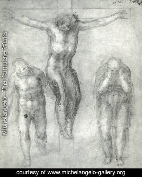 Michelangelo - Study For Christ On The Cross With Mourners