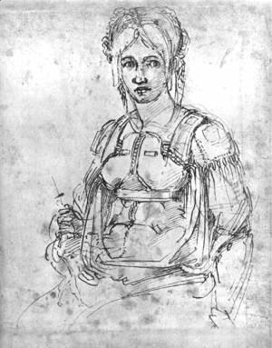 Michelangelo - Portrait of Vittoria Colonna 1540s