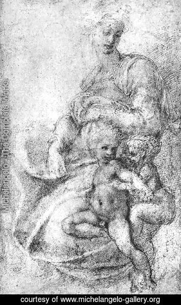Michelangelo - Madonna, Child and St John 1520s