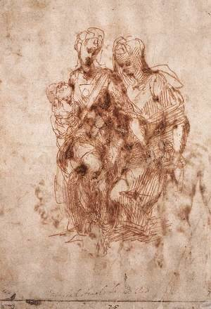 Michelangelo - St Anne with the Virgin and the Christ Child c. 1505
