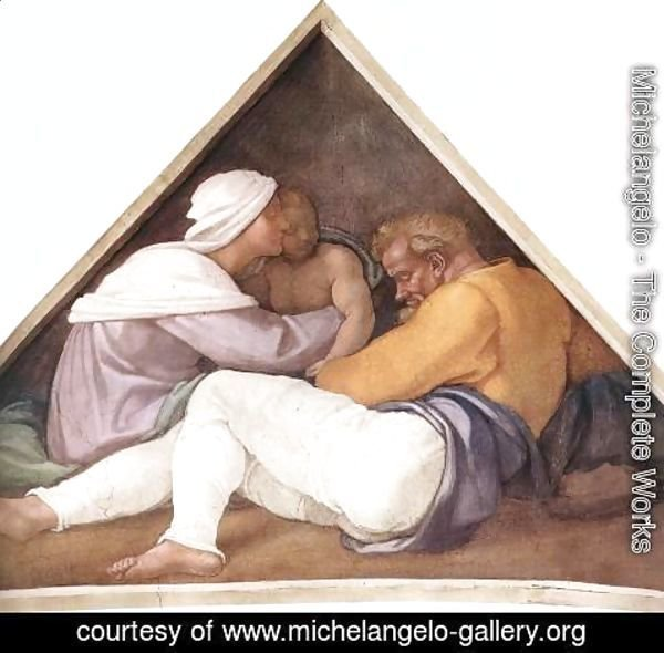 Michelangelo - Ancestors of Christ- figures (2) 1509