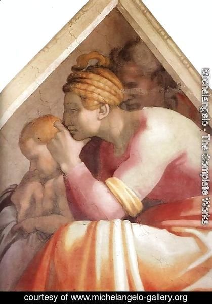 Michelangelo - Ancestors of Christ- figures (5) (detail)  1511
