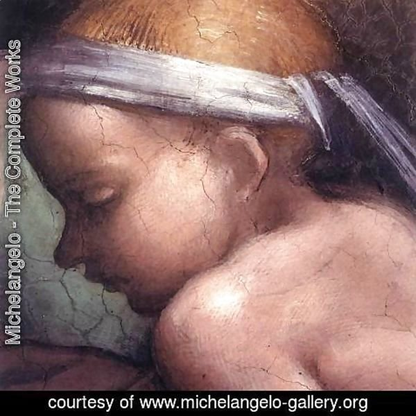Michelangelo - Ancestors of Christ- figures (6)  (detail) 1511