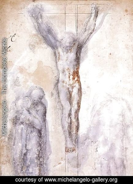 Michelangelo - Christ Crucified between the Virgin and Nicodemus c. 1552-54