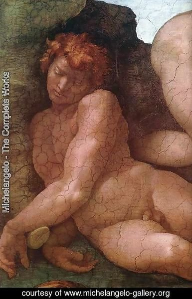 Michelangelo - Creation of Eve (detail-1) 1509-10