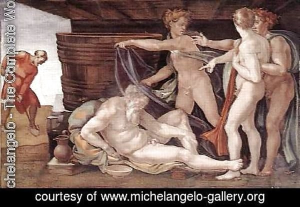 Michelangelo - Drunkenness of Noah 1509