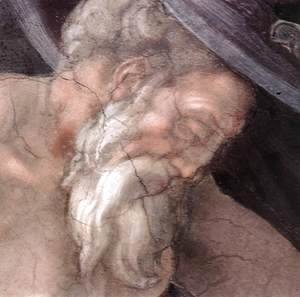 Michelangelo - Drunkenness of Noah (detail-3) 1509