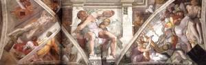 Michelangelo - Frescoes above the altar wall 1508-12