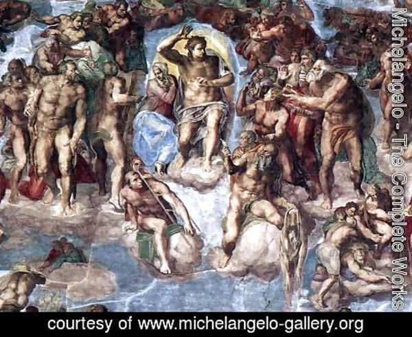 Michelangelo - Last Judgment (detail-1) 1537-41