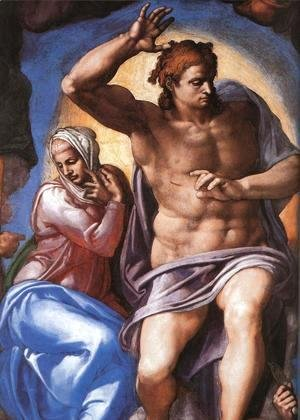 Michelangelo - Last Judgment (detail-2) 1537-41
