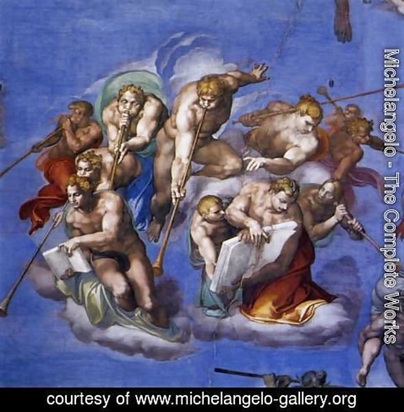 Michelangelo - Last Judgment (detail-5) 1537-41