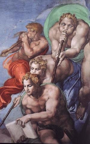 Michelangelo - Last Judgment (detail-6) 1537-41