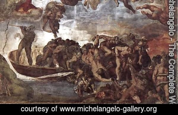 Michelangelo - Last Judgment (detail-7) 1537-41
