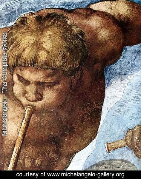 Michelangelo - Last Judgment (detail-9) 1537-41