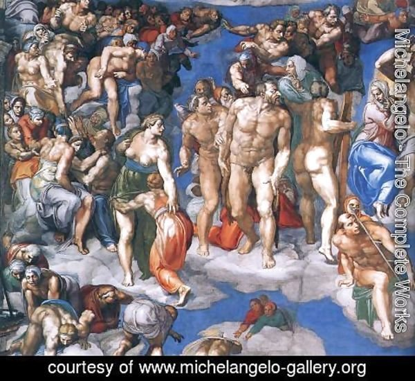 Michelangelo - Last Judgment (detail-11) 1537-41