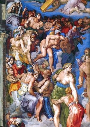 Michelangelo - Last Judgment (detail-12) 1537-41