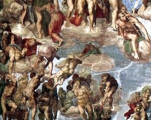 Michelangelo - Last Judgment (detail-13) 1537-41