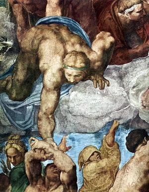 Michelangelo - Last Judgment (detail-14) 1537-41