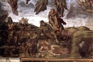 Michelangelo - Last Judgment (detail-15) 1537-41