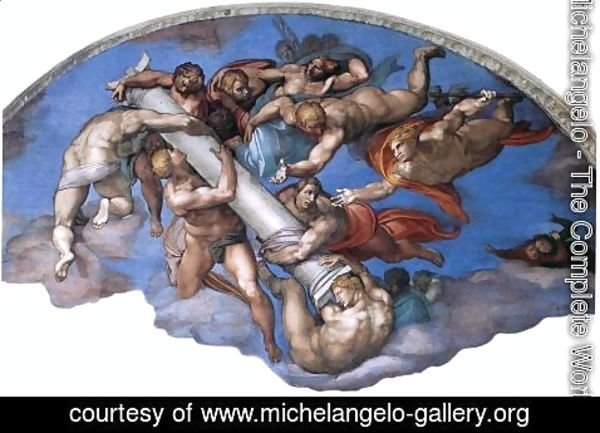 Michelangelo - Last Judgment (detail-17) 1537-41