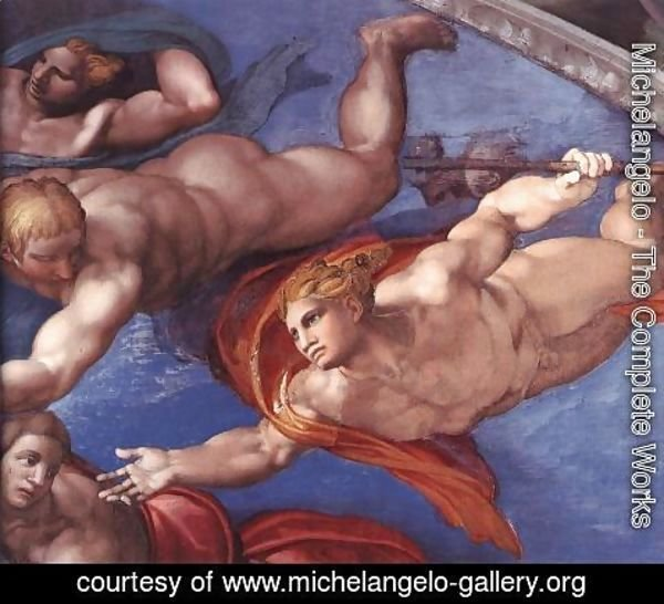 Michelangelo - Last Judgment (detail-19) 1537-41