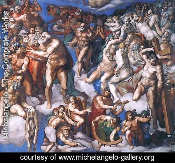 Michelangelo - Last Judgment (detail-20) 1537-41