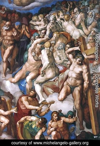 Michelangelo - Last Judgment (detail-21) 1537-41