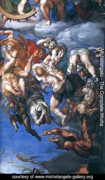 Michelangelo - Last Judgment (detail-22) 1537-41