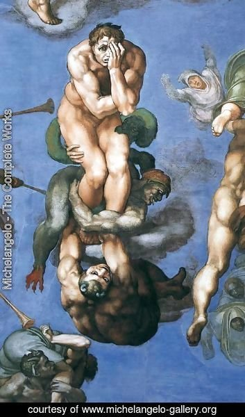 Michelangelo - Last Judgment (detail-23) 1537-41