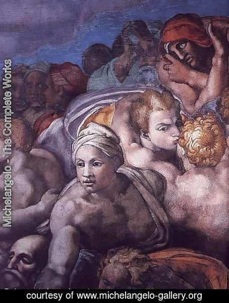 Michelangelo - Last Judgment (detail-26) 1537-41