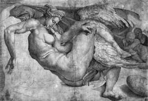 Michelangelo - Leda and the Swan