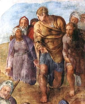 Michelangelo - Martyrdom of St Peter (detail-2) 1546-50