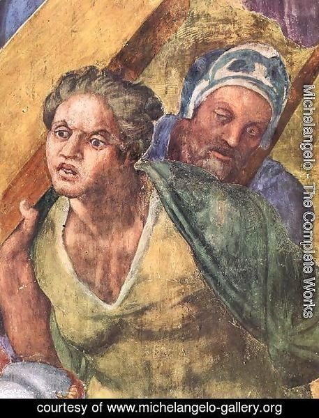 Michelangelo - Martyrdom of St Peter (detail-3) 1546-50