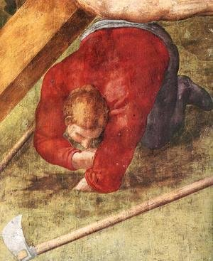 Michelangelo - Martyrdom of St Peter (detail-4) 1546-50