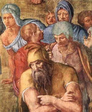 Michelangelo - Martyrdom of St Peter (detail-6) 1546-50