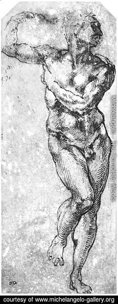 Nude Man Turned to the Right 1510-11