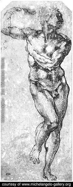 Michelangelo - Nude Man Turned to the Right 1510-11