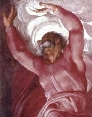Michelangelo - Separation of Light from Darkness (detail) 1511