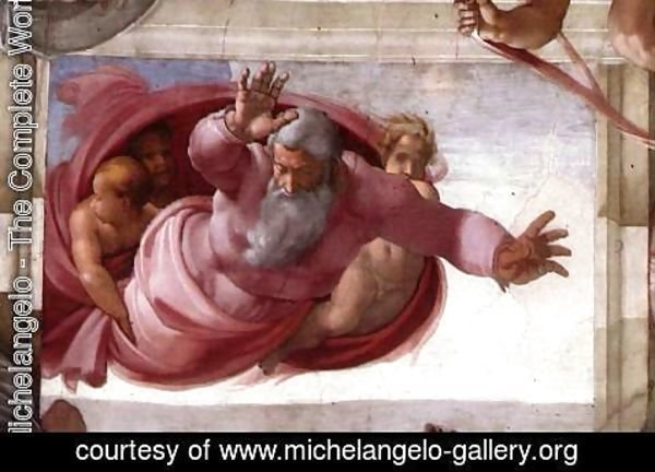 Michelangelo - Separation of the Earth from the Waters 1511
